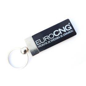 Kožené a gumové klíčenky s logem - reference - Euro CNG