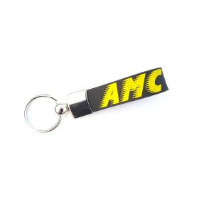 Kožené a gumové klíčenky s logem - reference - AMC Trans