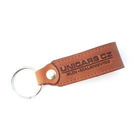 Kožené a gumové klíčenky s logem - reference - Unicars