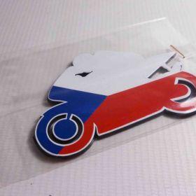 3D stickery - samolepky na auto - ČR Moto