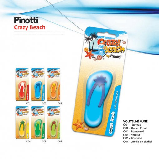 Pinotti Crazy Beach - gelový osvěžovač vzduchu