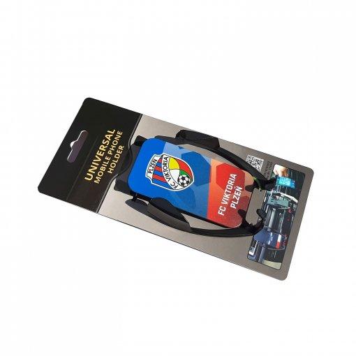 Držák mobilního telefonu do auta, s logem FK Viktoria Plzeň, přímý potisk