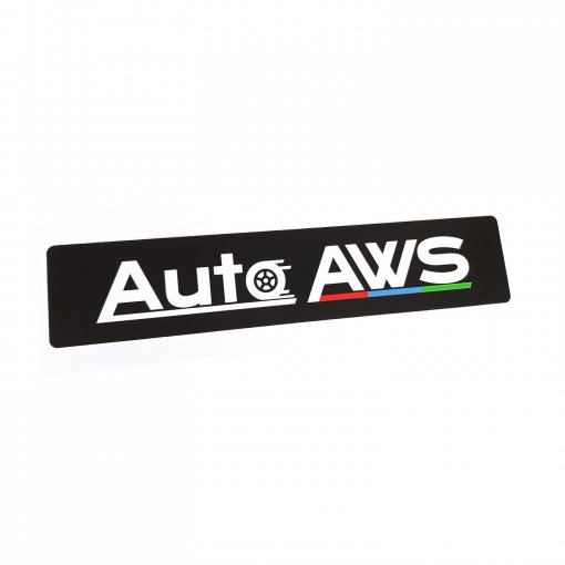 Reklamní tabulka s logem místo SPZ Auto AWS
